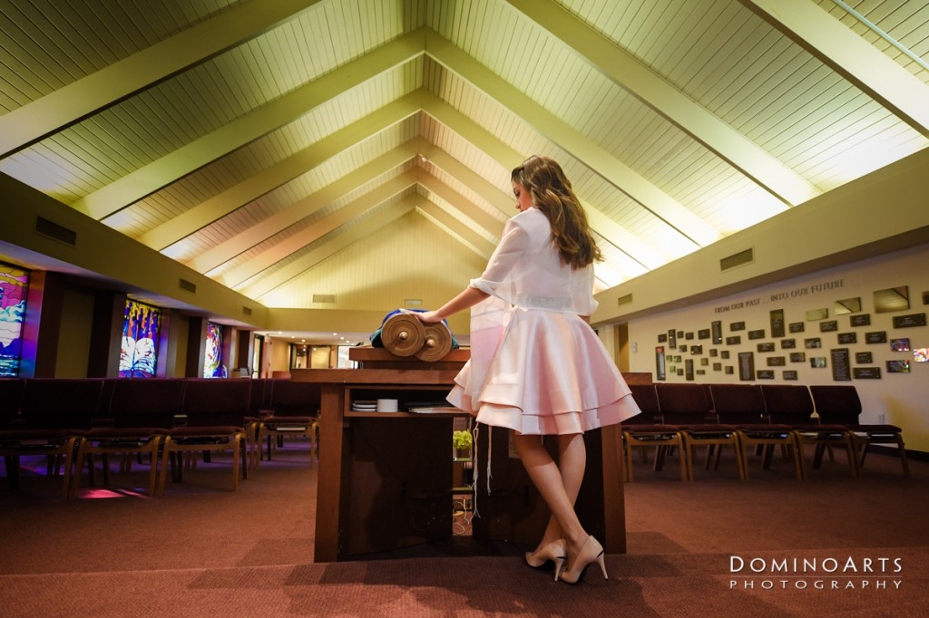 Beautiful Mitzvah portrait by Domino Arts Photography