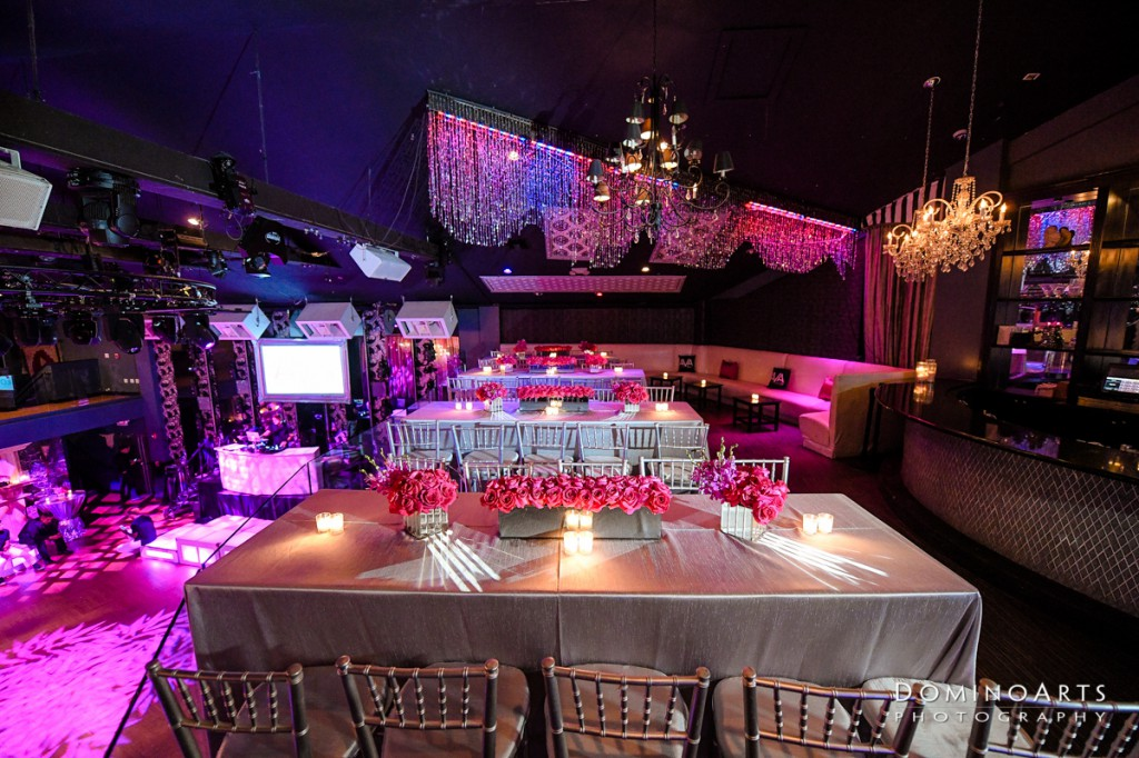 Trendy purple decor at Bat Mitzvah at the Venue Fort Lauderdale