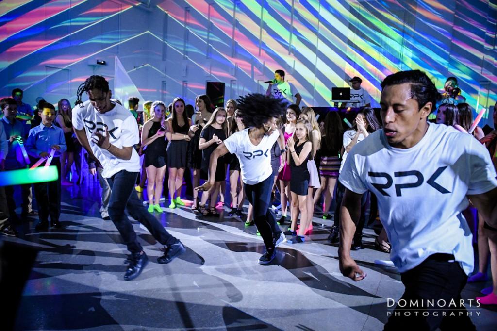 Neon Bar Mitzvah entertainment at The Temple House, Miami Beach