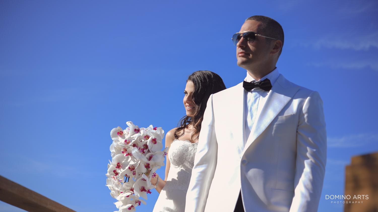 Luxury destination wedding pictures of bride and groom at One&Only Ocean Club Bahamas