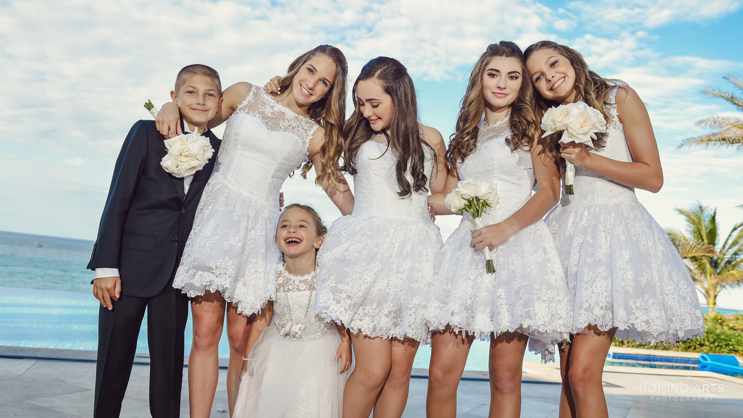Fun wedding picture at One&Only Ocean Club Bahamas
