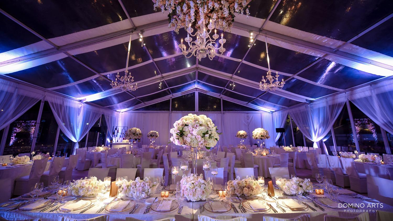 Luxury wedding décor at One&Only Ocean Club Bahamas