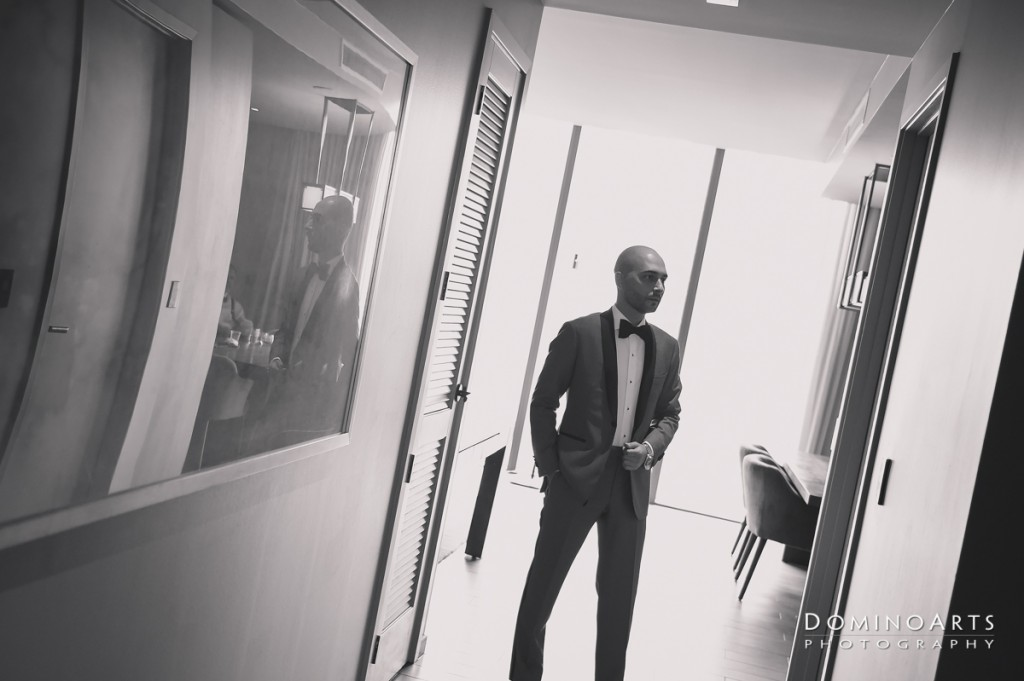 groom at Luxury Destination Wedding at East, Miami