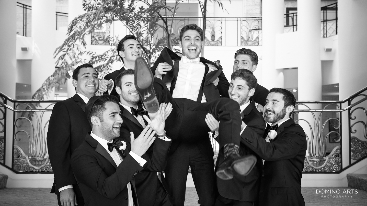Fun groomsmen pictures at Trump national Doral in South Florida