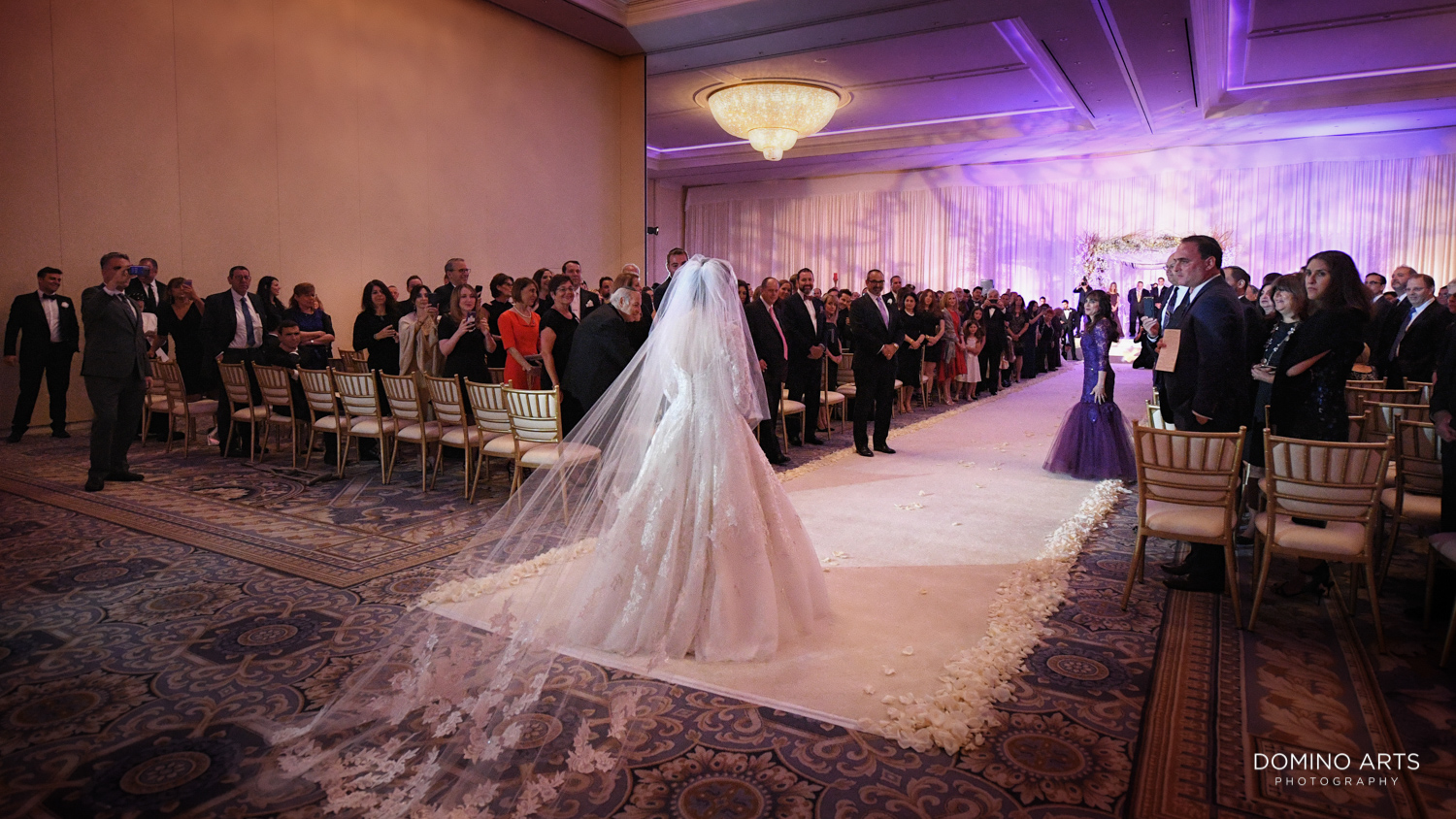 Modern Jewish wedding ceremony pictures at Trump national Doral in South Florida