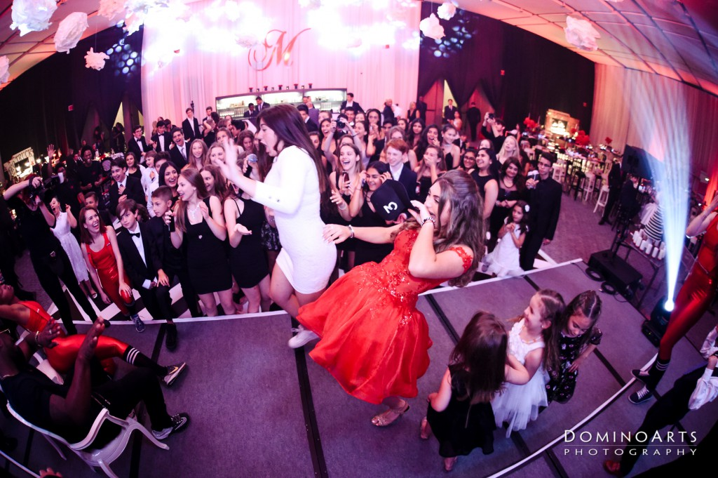 Fun Mitzvah party photography at Four Seasons Hotel Toronto Canada