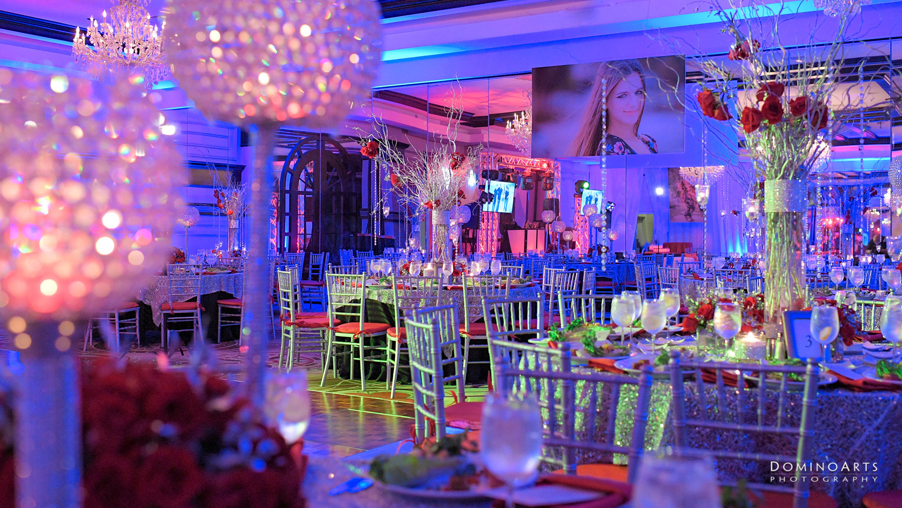Beautiful Mitzvah Decor Photography at B'nai Israel, Boca Raton