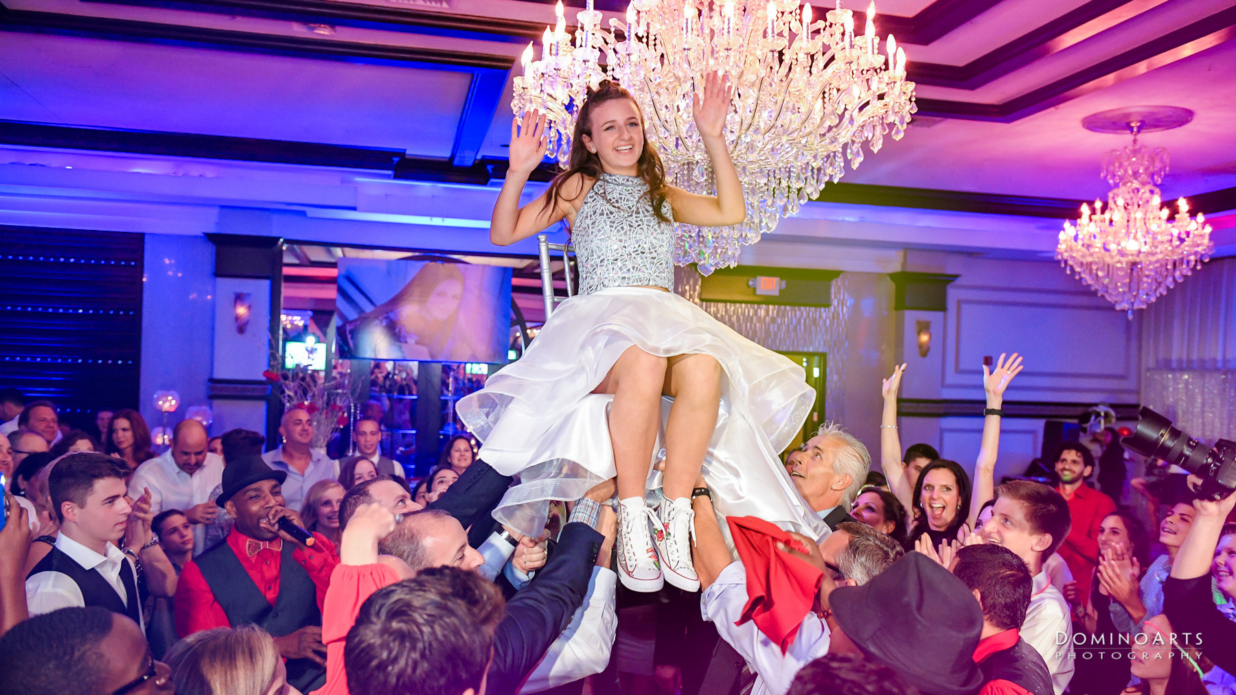 hora and party pictures at Temple Beth El Mitzvah, Boca Raton Mitzvah