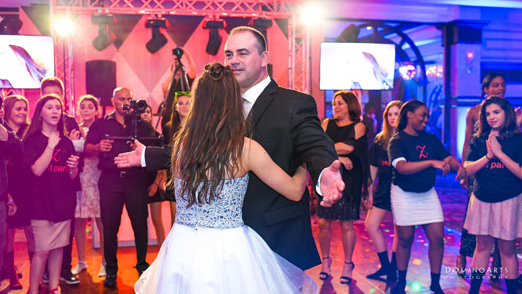 Parent dance pictures at Temple Beth El Mitzvah, Boca Raton Mitzvah
