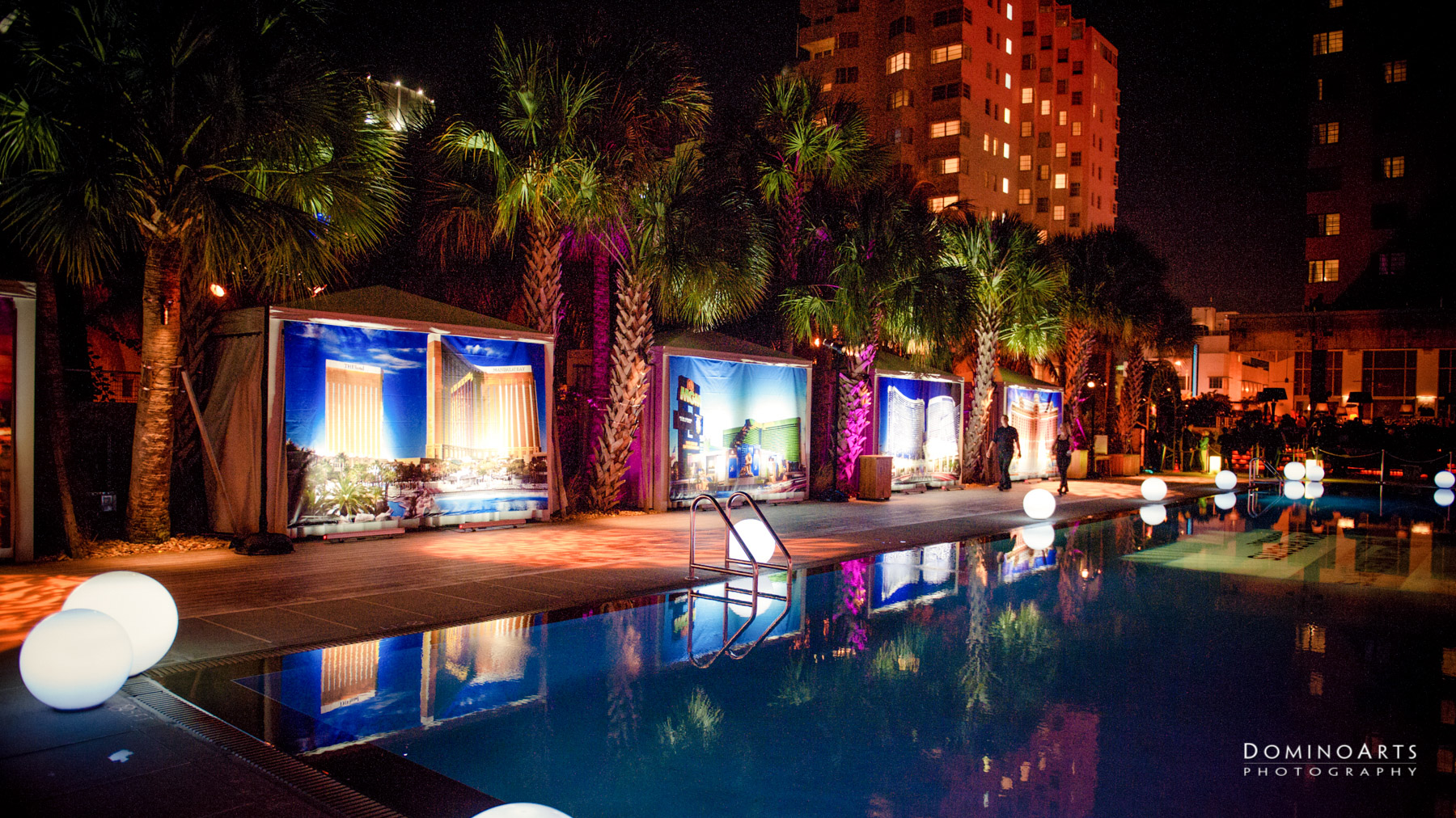 Pool decor for Corporate Event Photography of MGM Resorts International at SLS South Beach, Miami