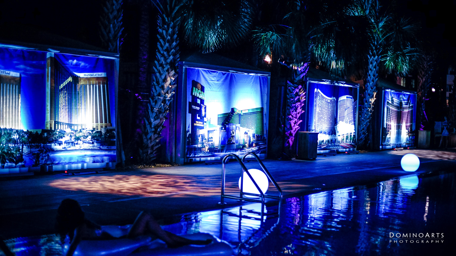 Pool decor for Corporate Event at SLS South Beach, Miami