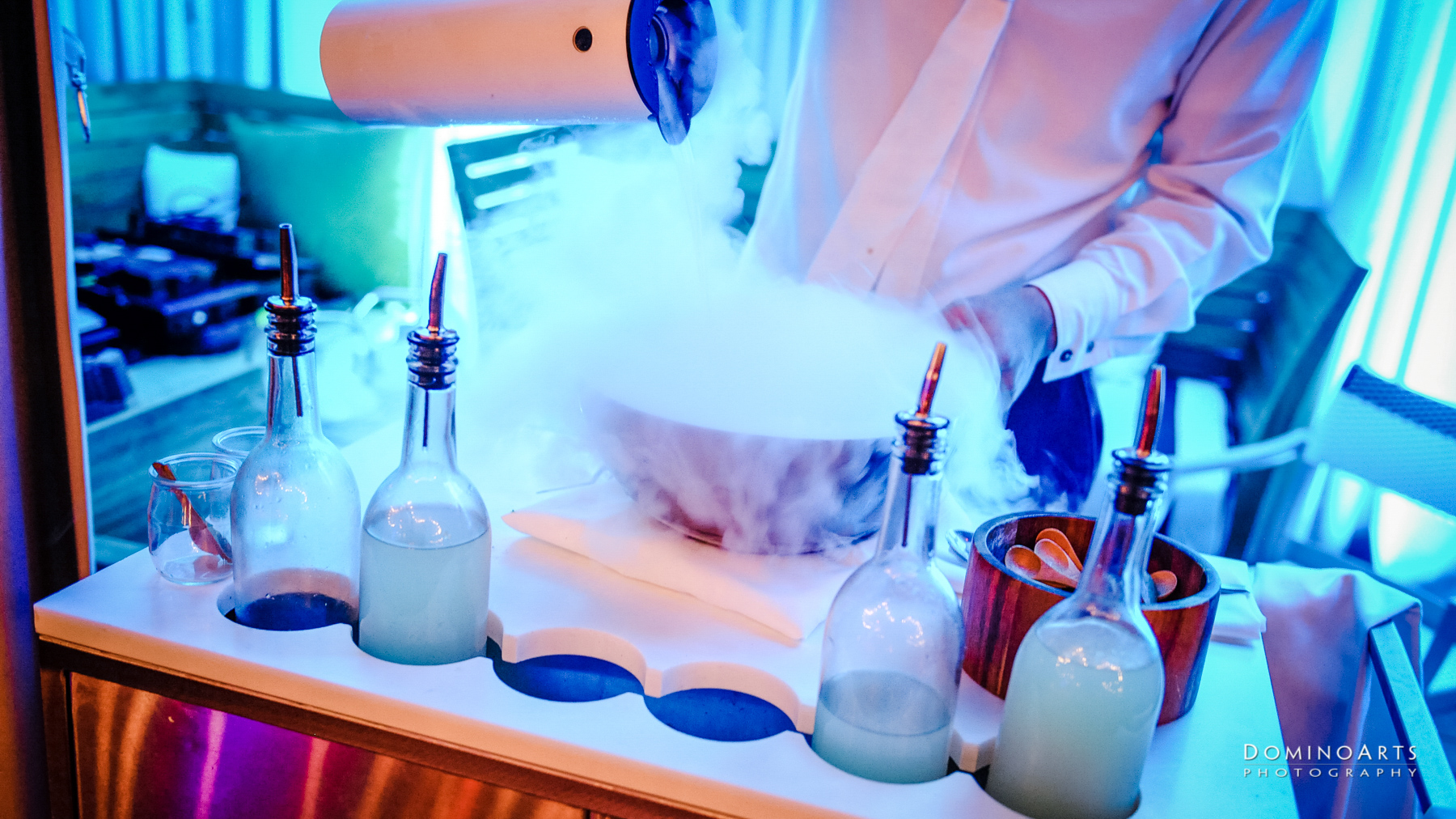 Nitrogen ice cream and catering at SLS South Beach, Miami by Domino Arts Photography