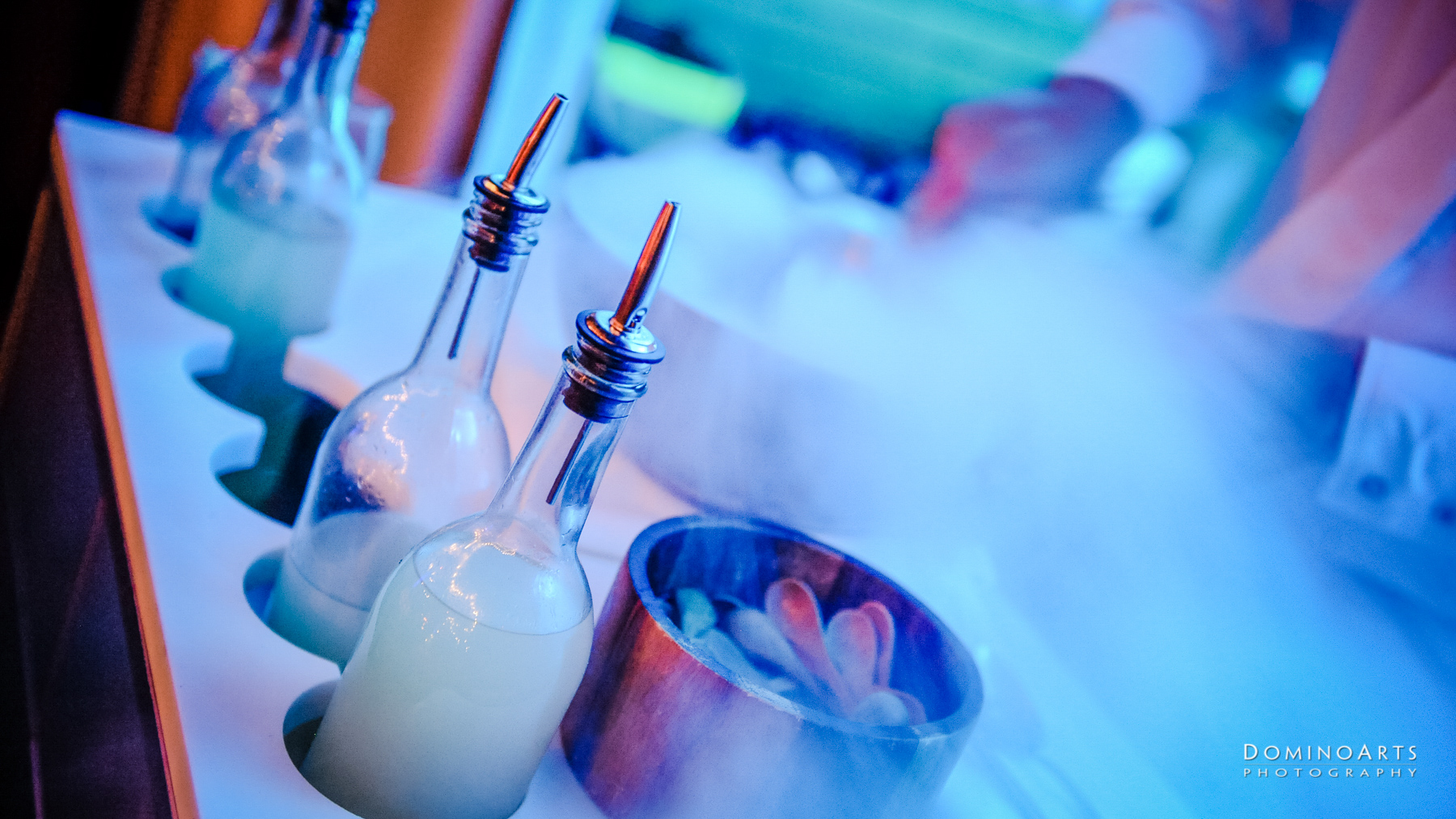 nitrogen ice cream and catering at Corporate Event at SLS South Beach, Miami by Domino Arts Photography