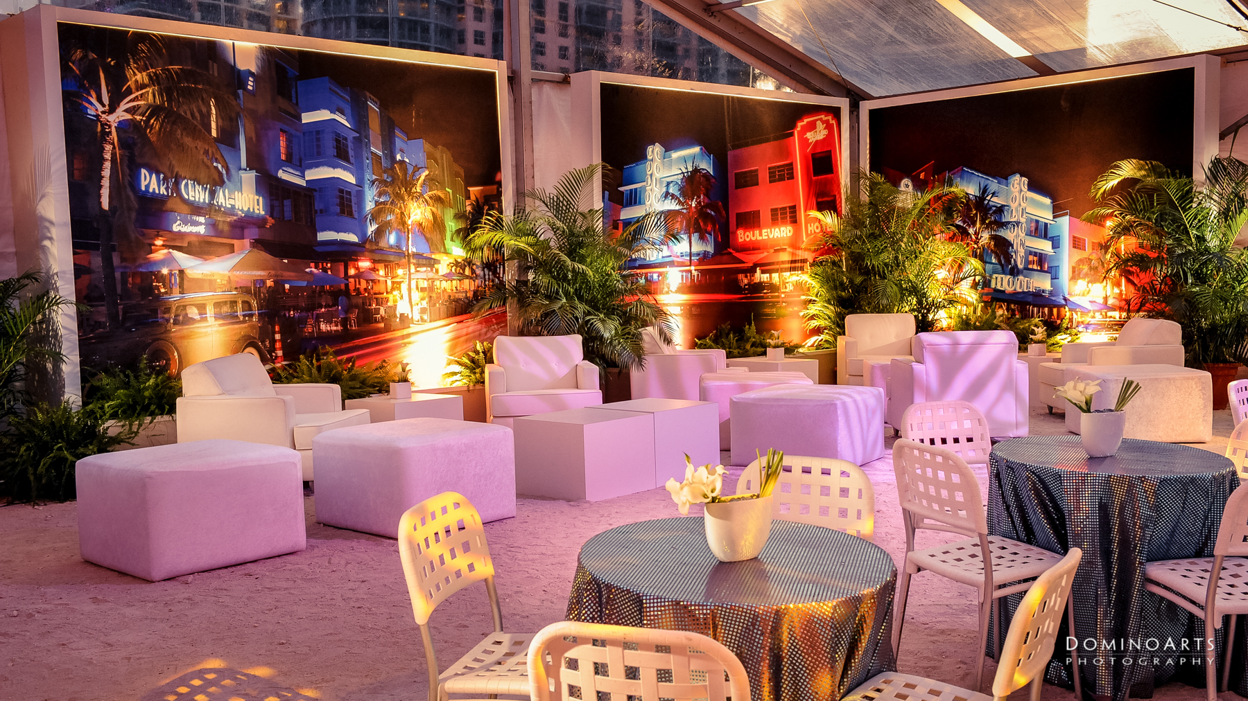 Miami Beach party corporate event Barton G by Domino Arts