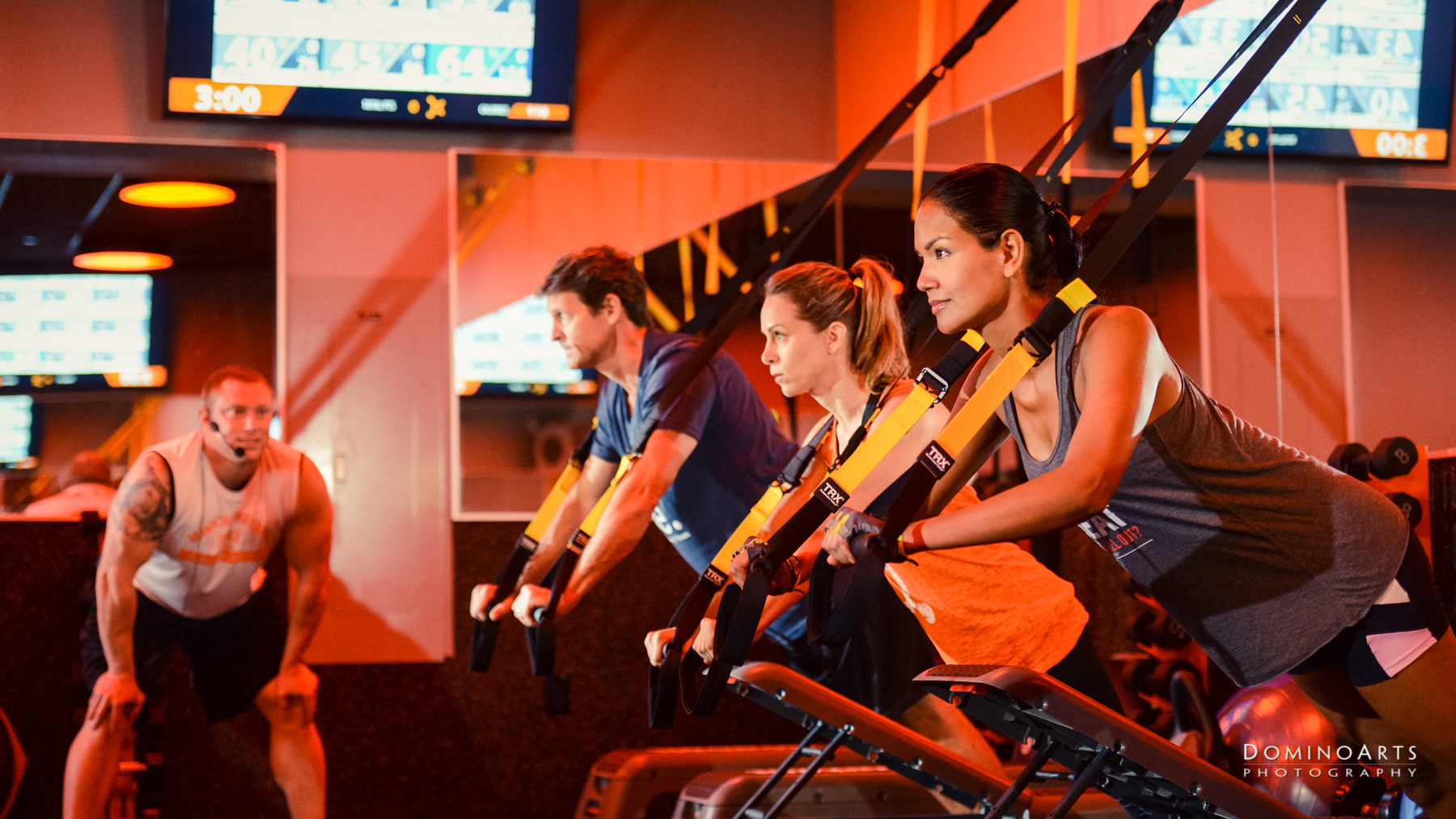PR photography by Domino Arts at Orange Theory Fitness