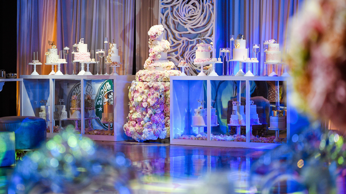 Extravagant Bat Mitzvah Decor and cakes Photography at Gallery of Amazing Things