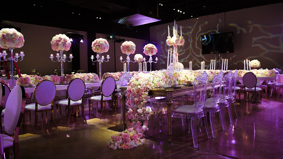 Extravagant Bat Mitzvah floral Decor Photography at Gallery of Amazing Things