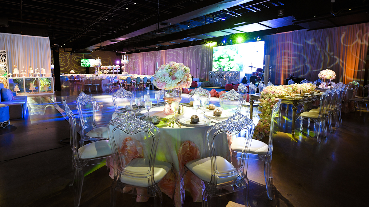 Extravagant Bat Mitzvah floral Decor at Gallery of Amazing Things