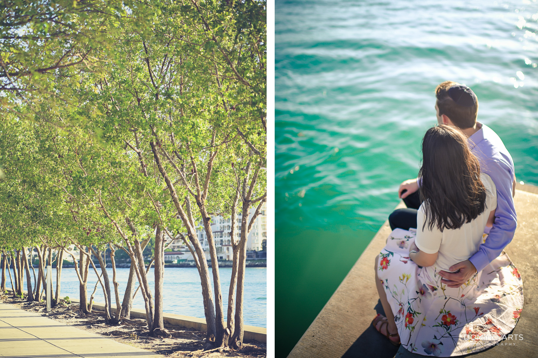 classic Miami Beach engagement session