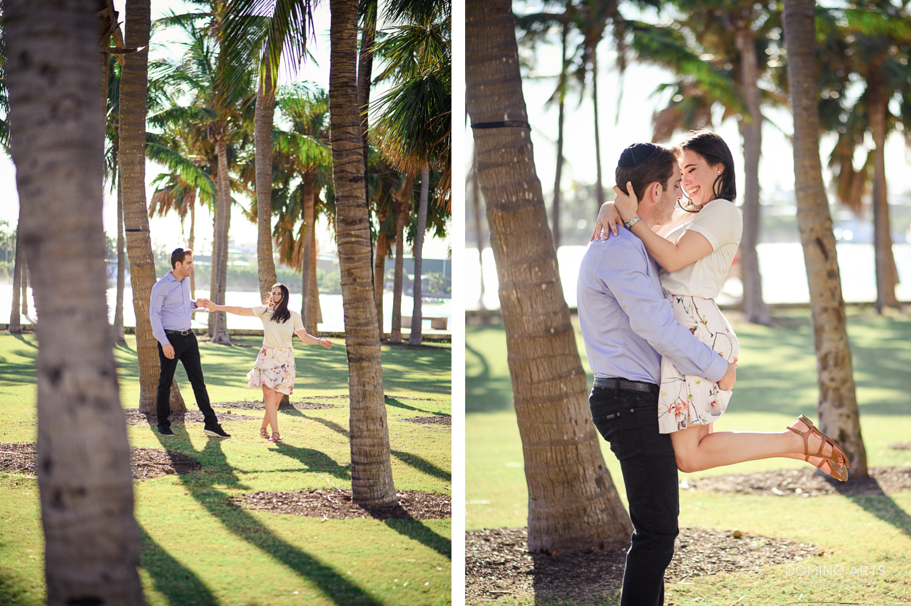 Fun romantic Destination Engagement Photography at South Point Park