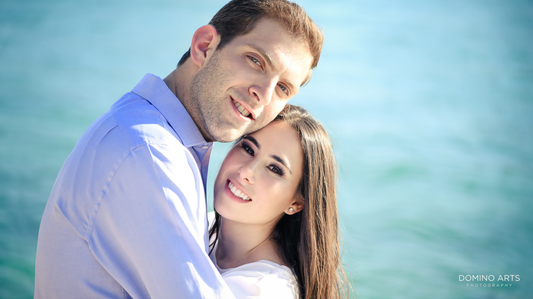 Fun romantic Destination Engagement Photography at Miami Beach