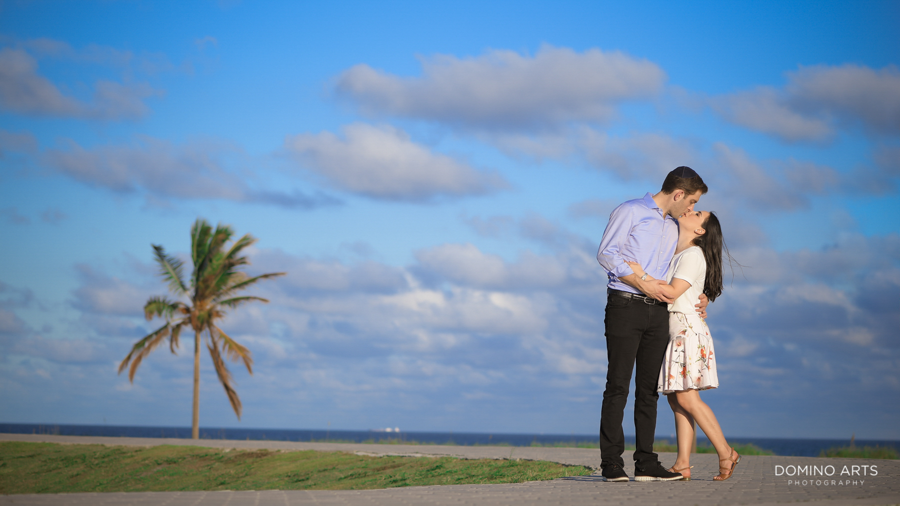 Simple romantic Destination Engagement Photography at Miami Beach