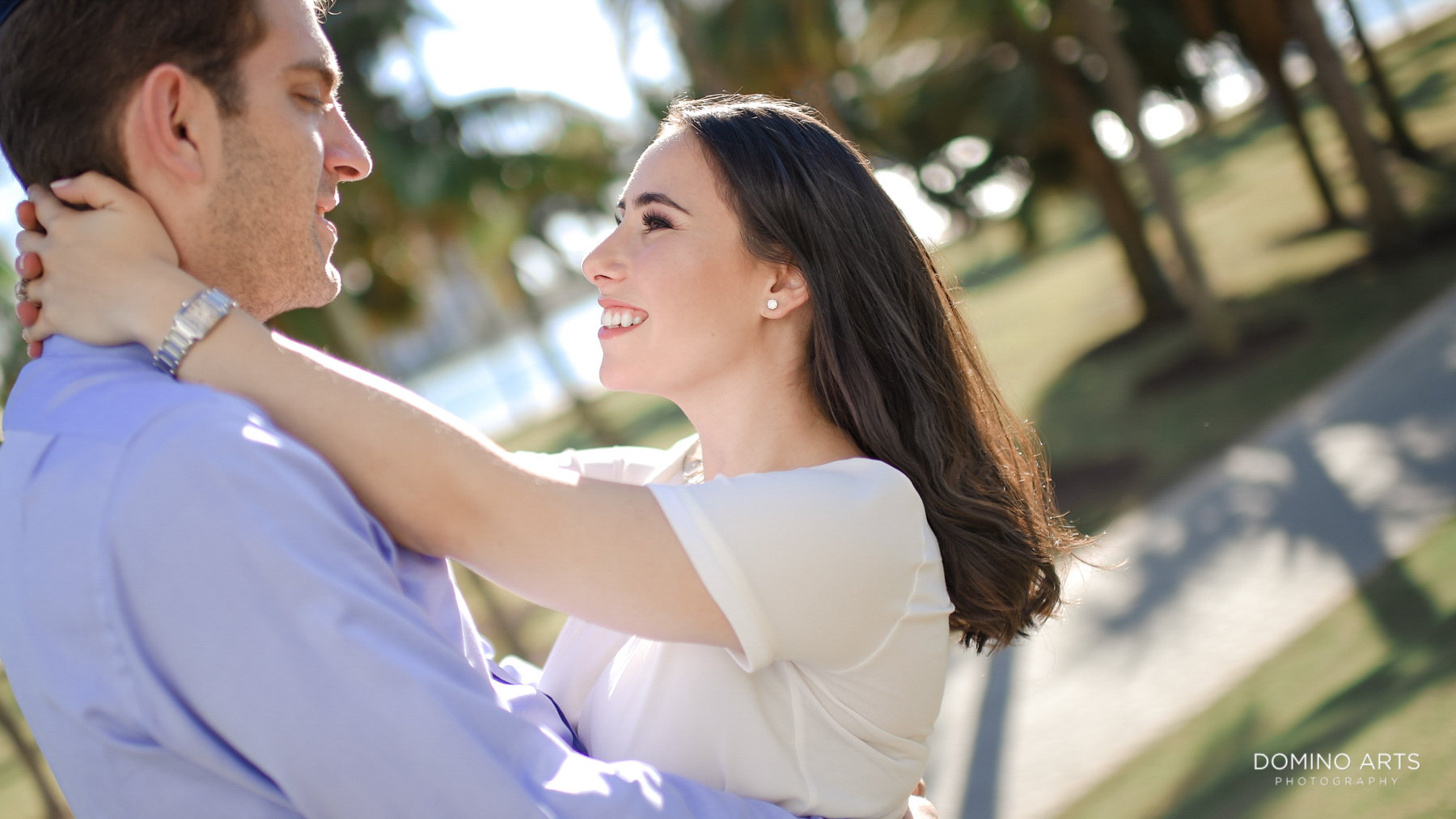 Romantic couple at South Point Park Engagement Pictures