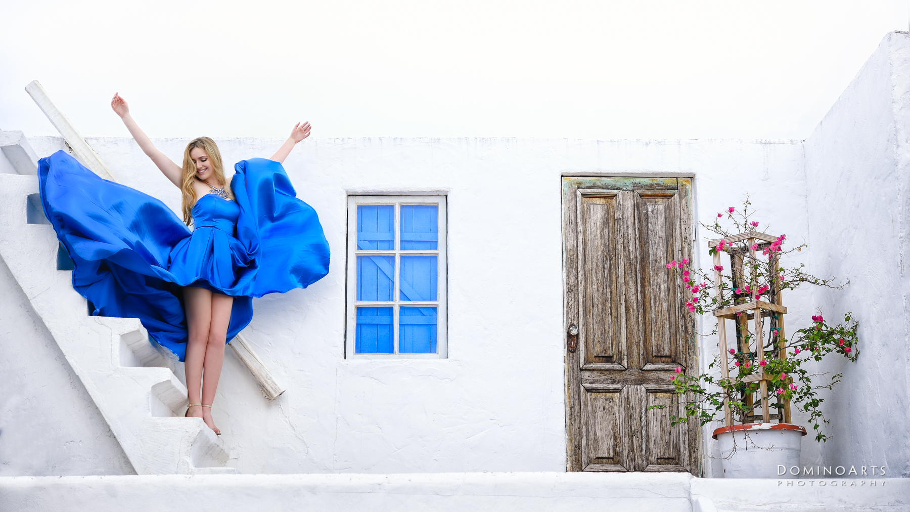 Santorini style Trendy Luxury Pre Session Photography at Little River Studios