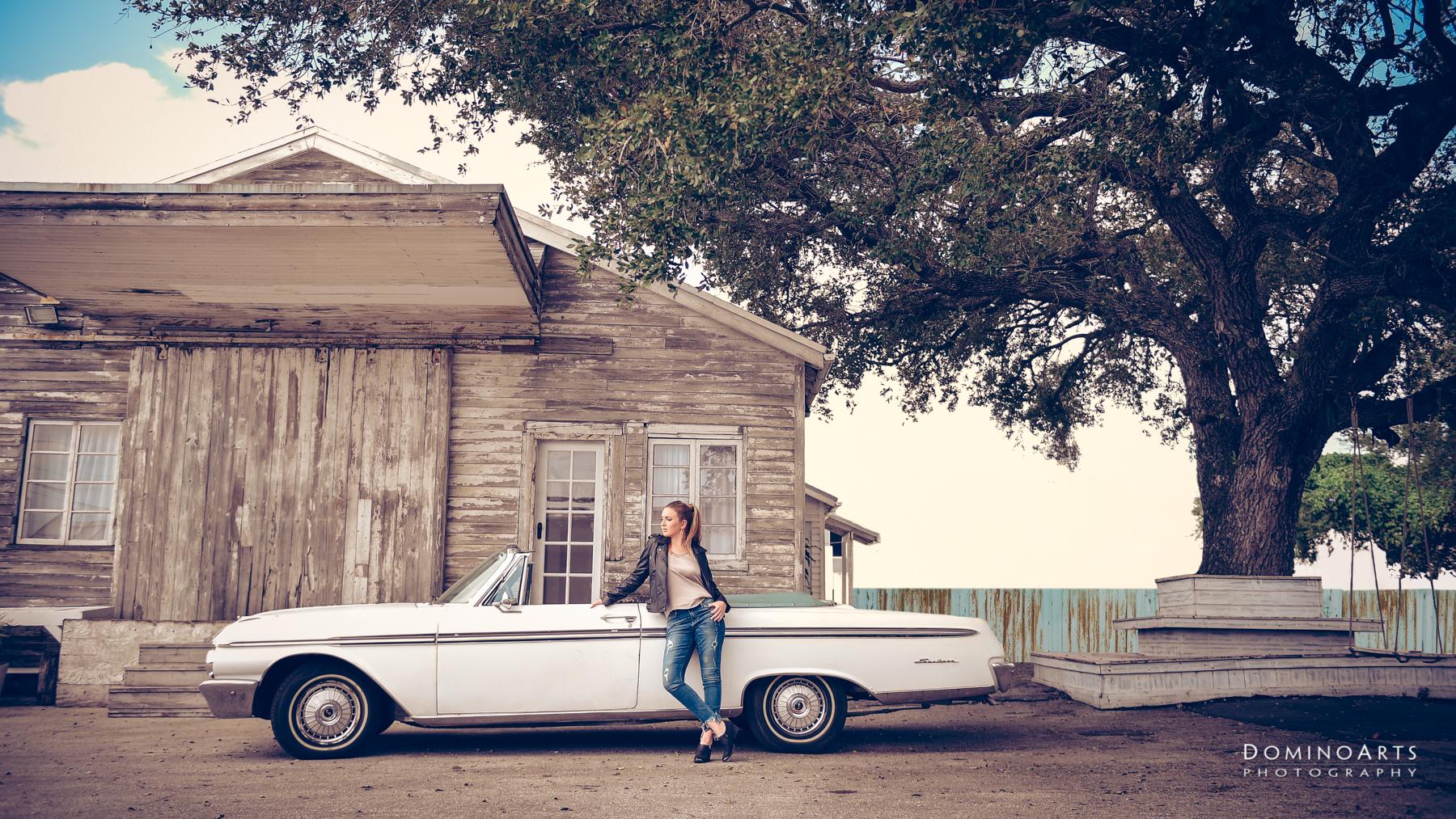 Vintage Rebel trendy luxury photography little river studio miami in antique car