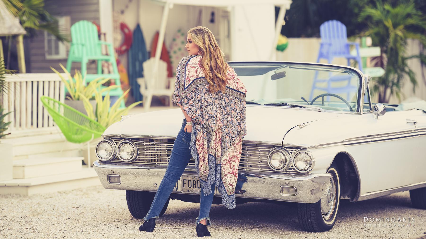 boho chic antique car trendy miami photographers