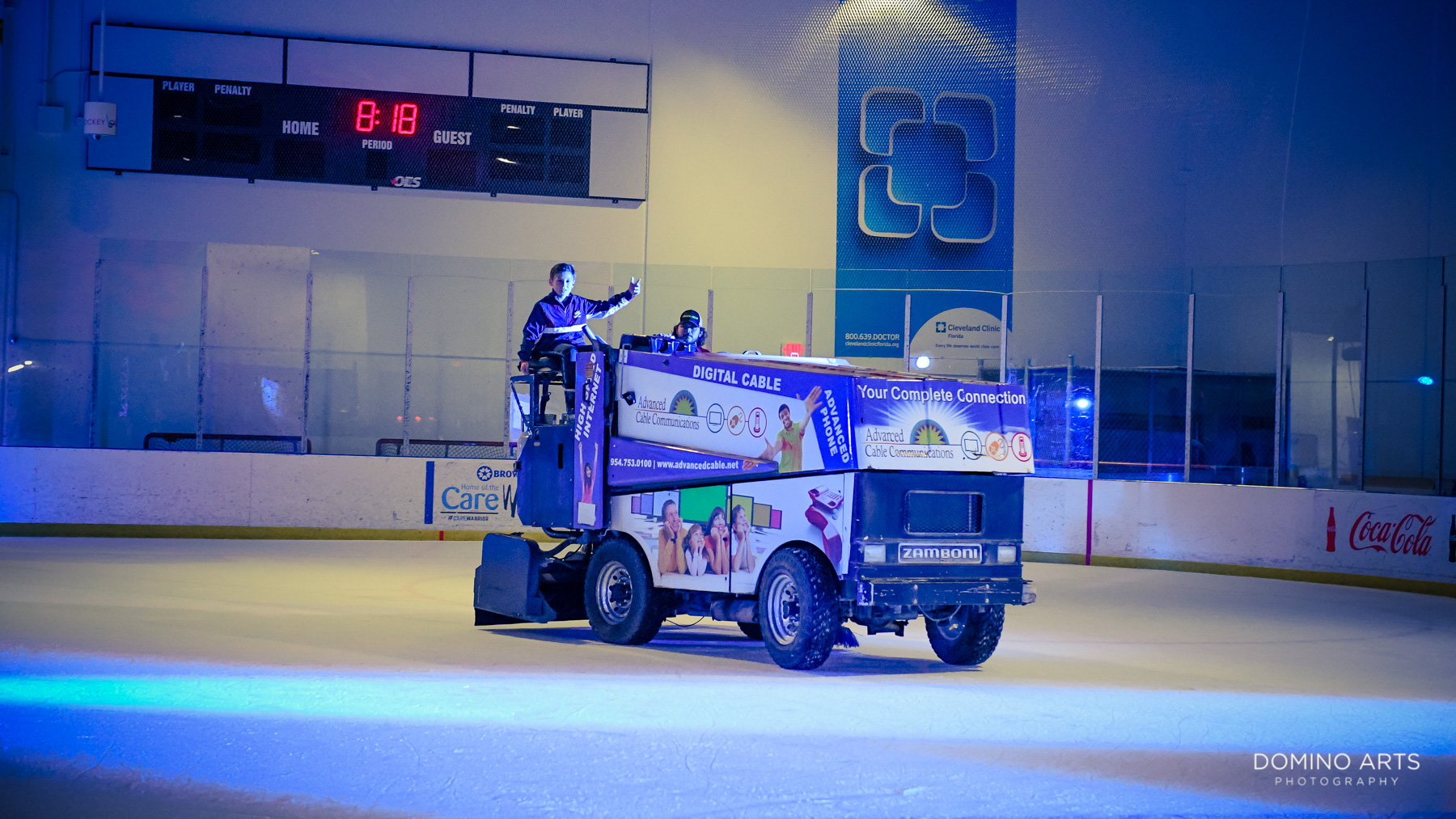 Zamboni Mitzvah entrance at Panthers Ice Den