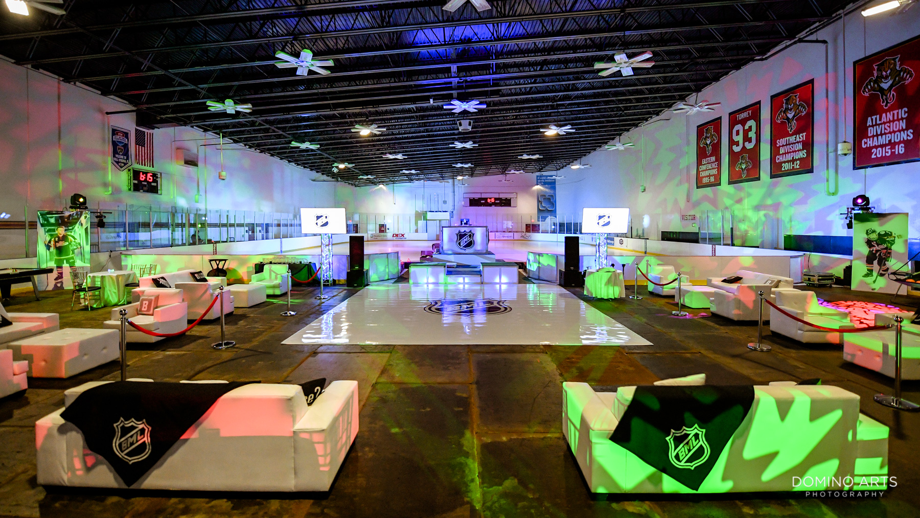 Unique Bar Mitzvah Decor at Panther's Ice Hockey Den