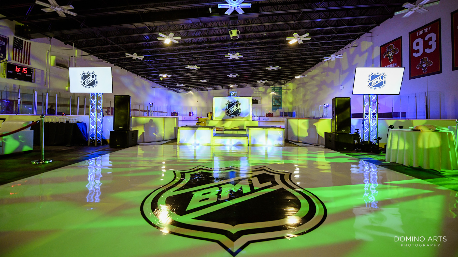 Hockey Theme Bar Mitzvah at Panther's Ice Den