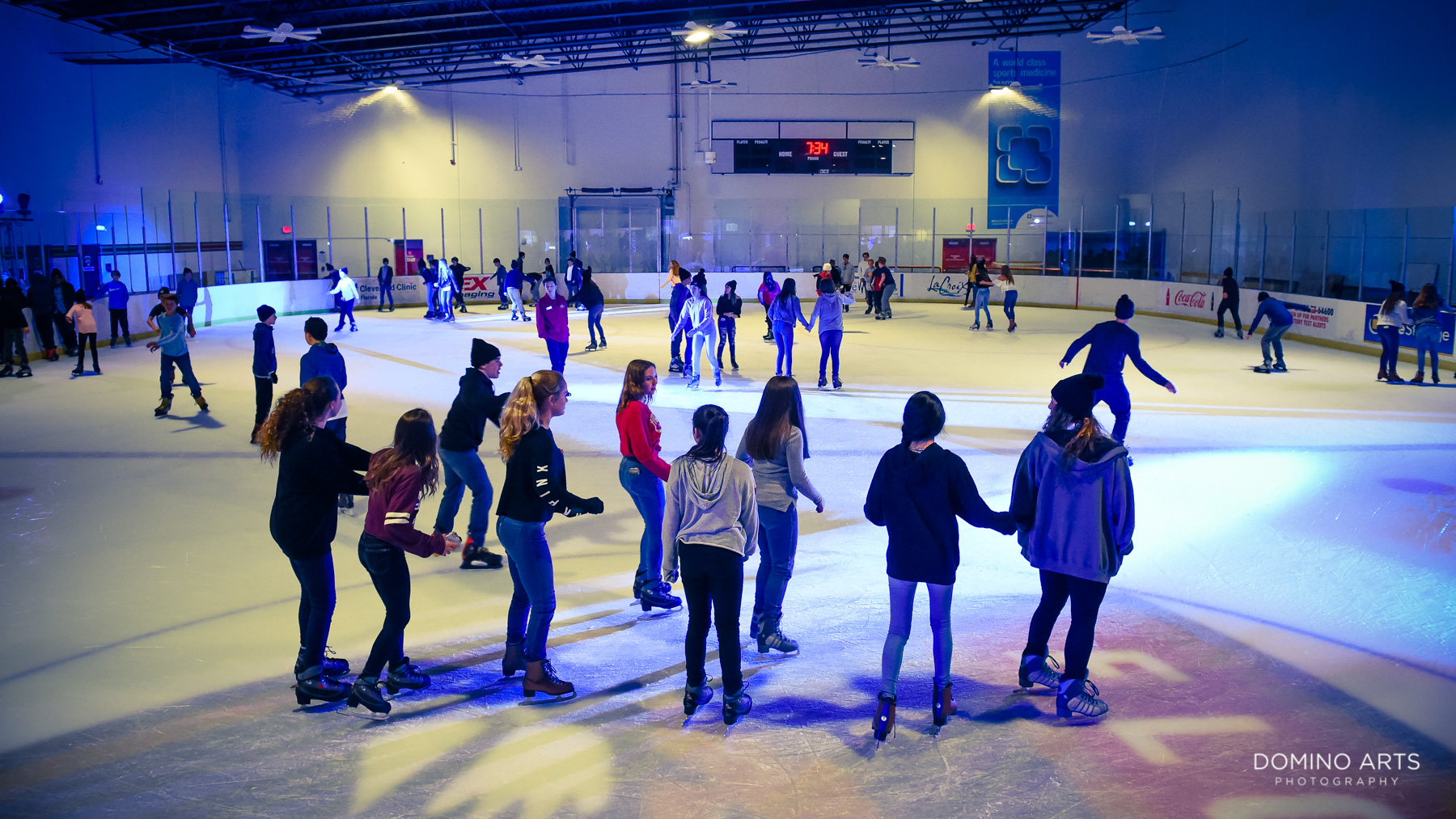 Ice Skating party Mitzvah photos South Florida