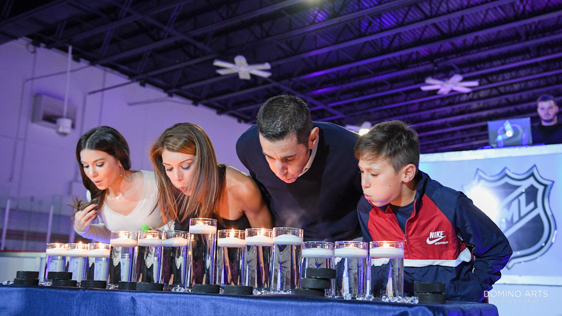 Unique ice skating Mitzvah theme party fun pictures