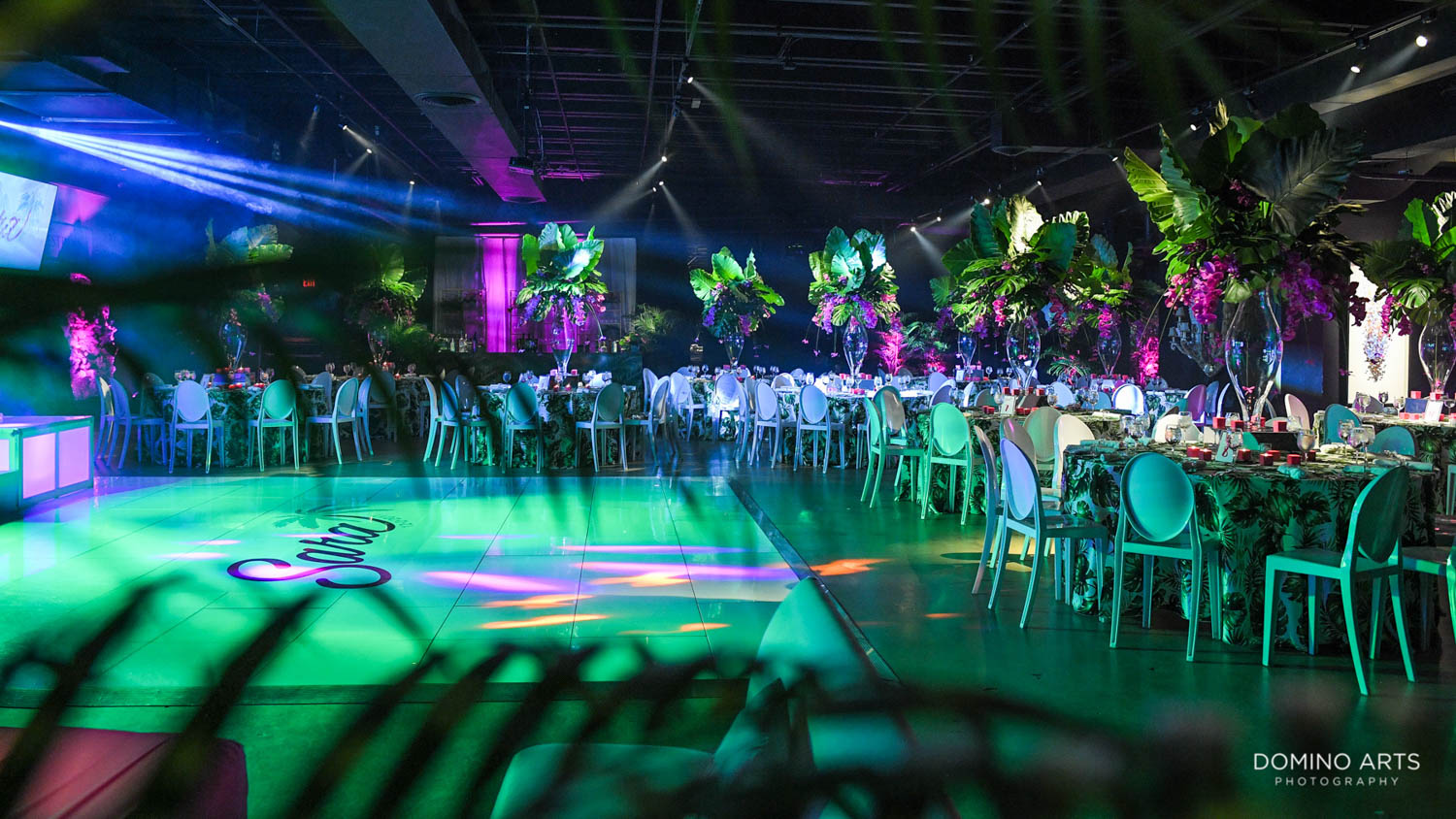Unique Tropical Luxury decor at Gallery of Amazing Things Mitzvah