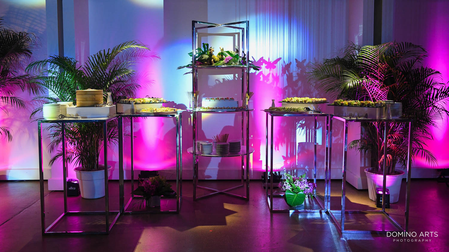 Unique tropical luxury decor and catering at Gallery of amazing things mitzvah