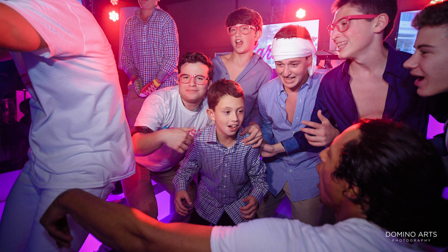 Fun party pictures with Rock With U at tropical luxury mitzvah at Gallery of amazing things