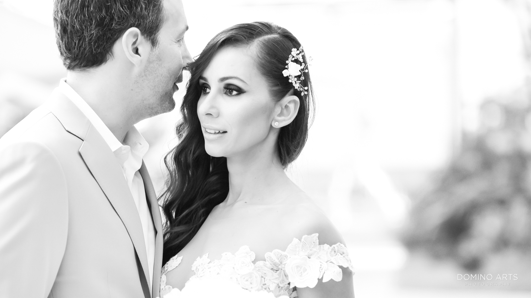 black and white wedding photography at Faena Hotel Miami