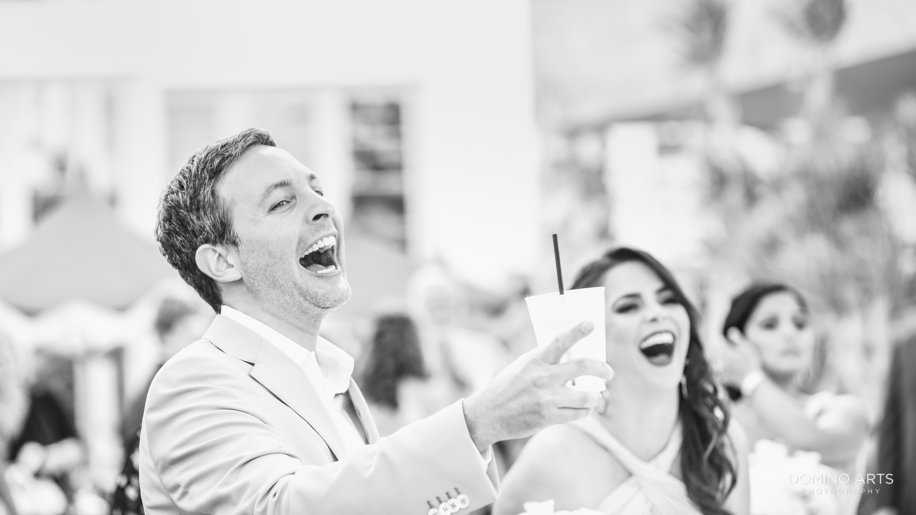 Fun wwedding picture at Luxury Destination Beach Wedding Photography at Faena Hotel