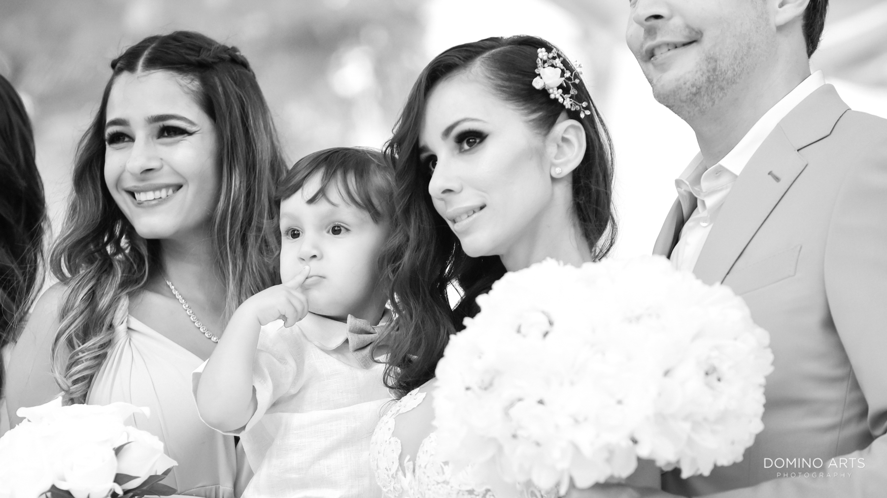 Family black and white photography at Luxury Destination Beach Wedding Photography at Faena Hotel
