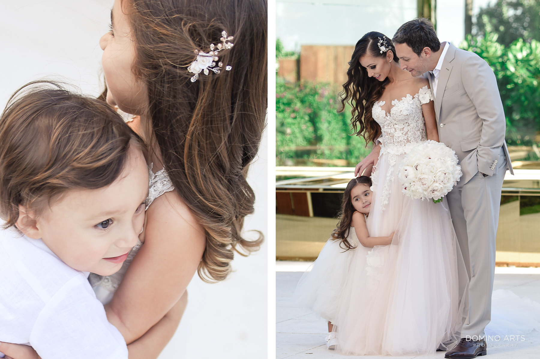 Natural family pictures at at Faena Hotel wedding