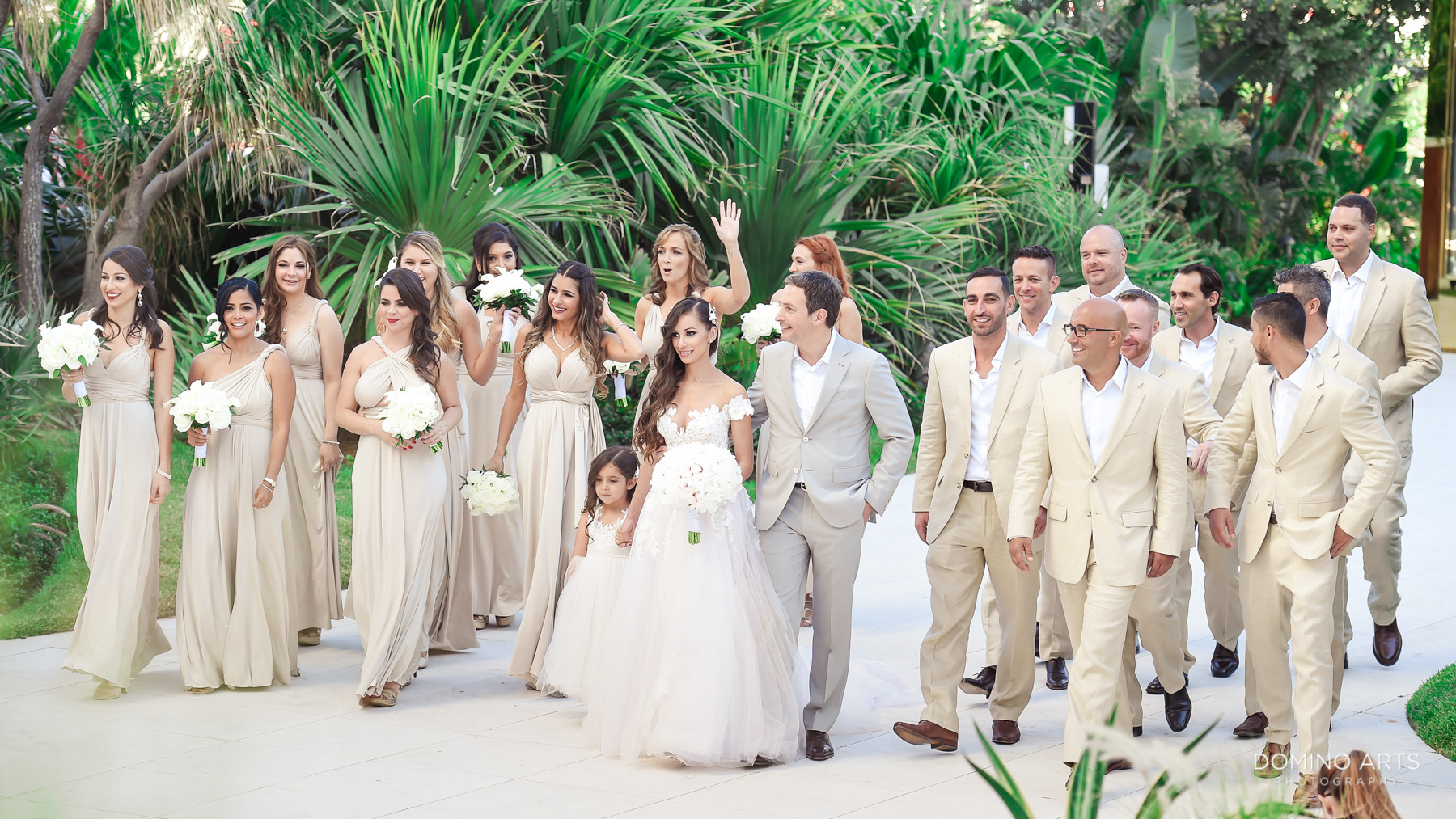 Fun wedding bridal party and Romantic wedding photos at Faena Hotel