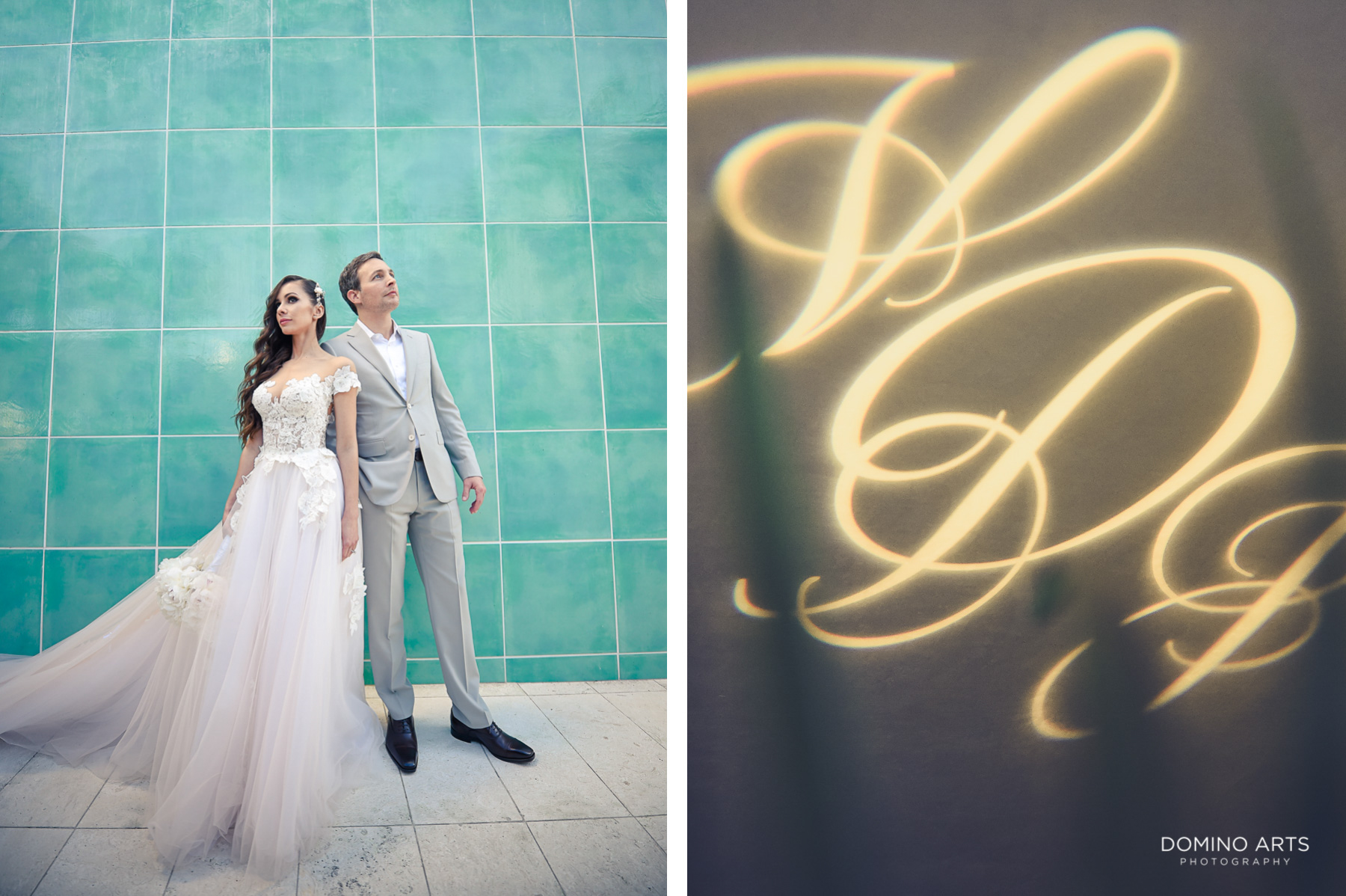 Creative bride and groom pictures at beach wedding Faena Hotel Miami