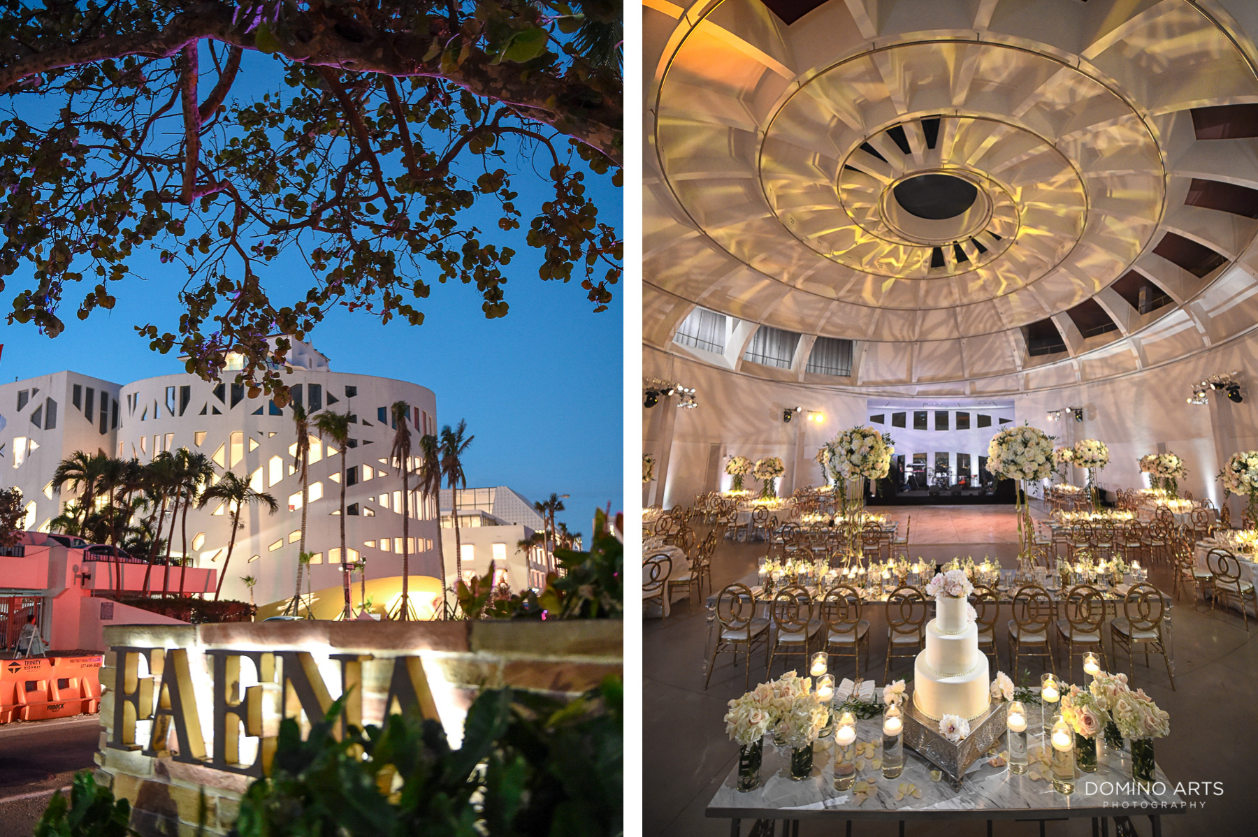 Luxury Decor and flowers at Faena Hotel Miami Beach Wedding