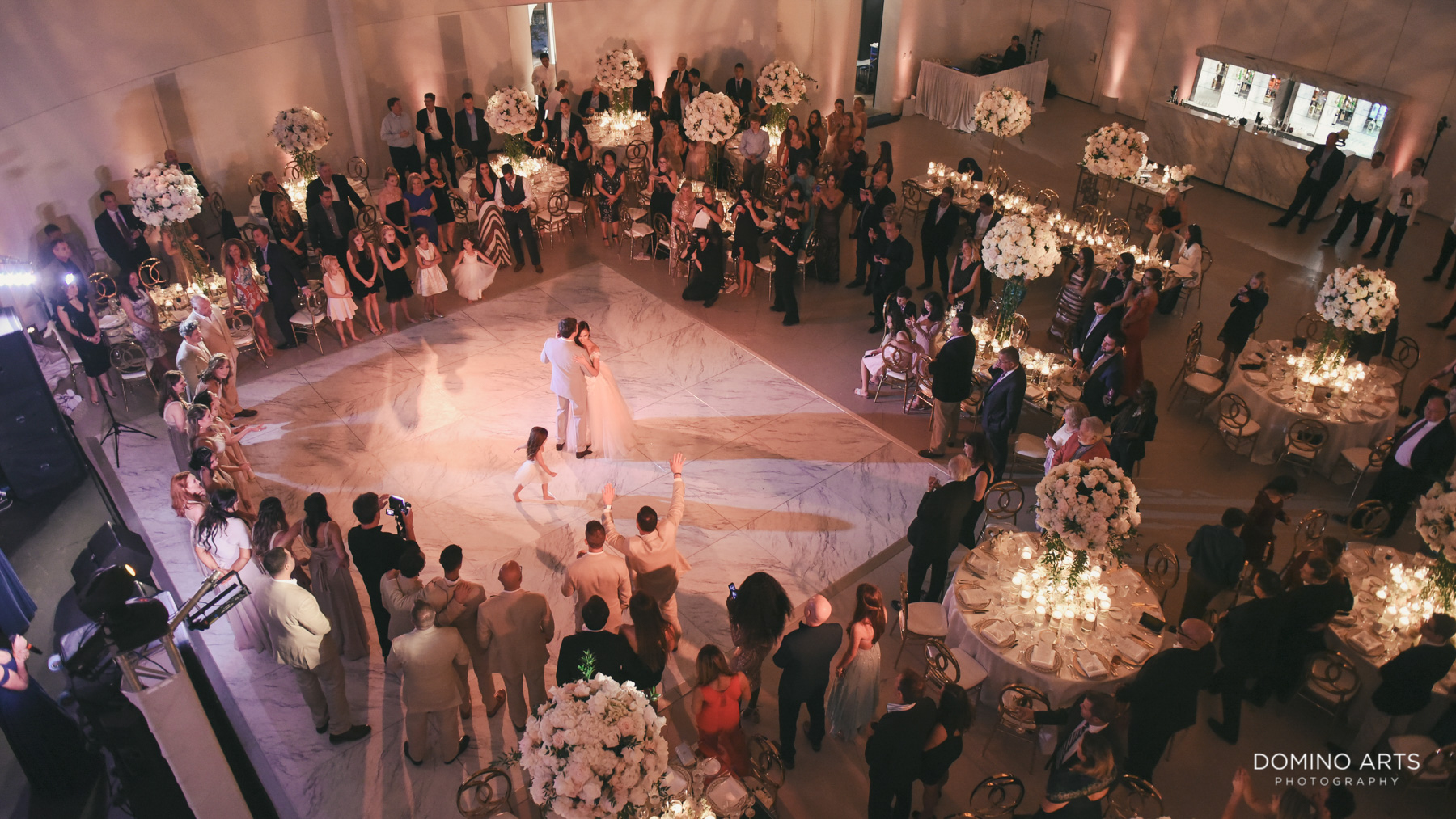 Luxury Decor and dance floor at Faena Hotel Miami Beach Wedding