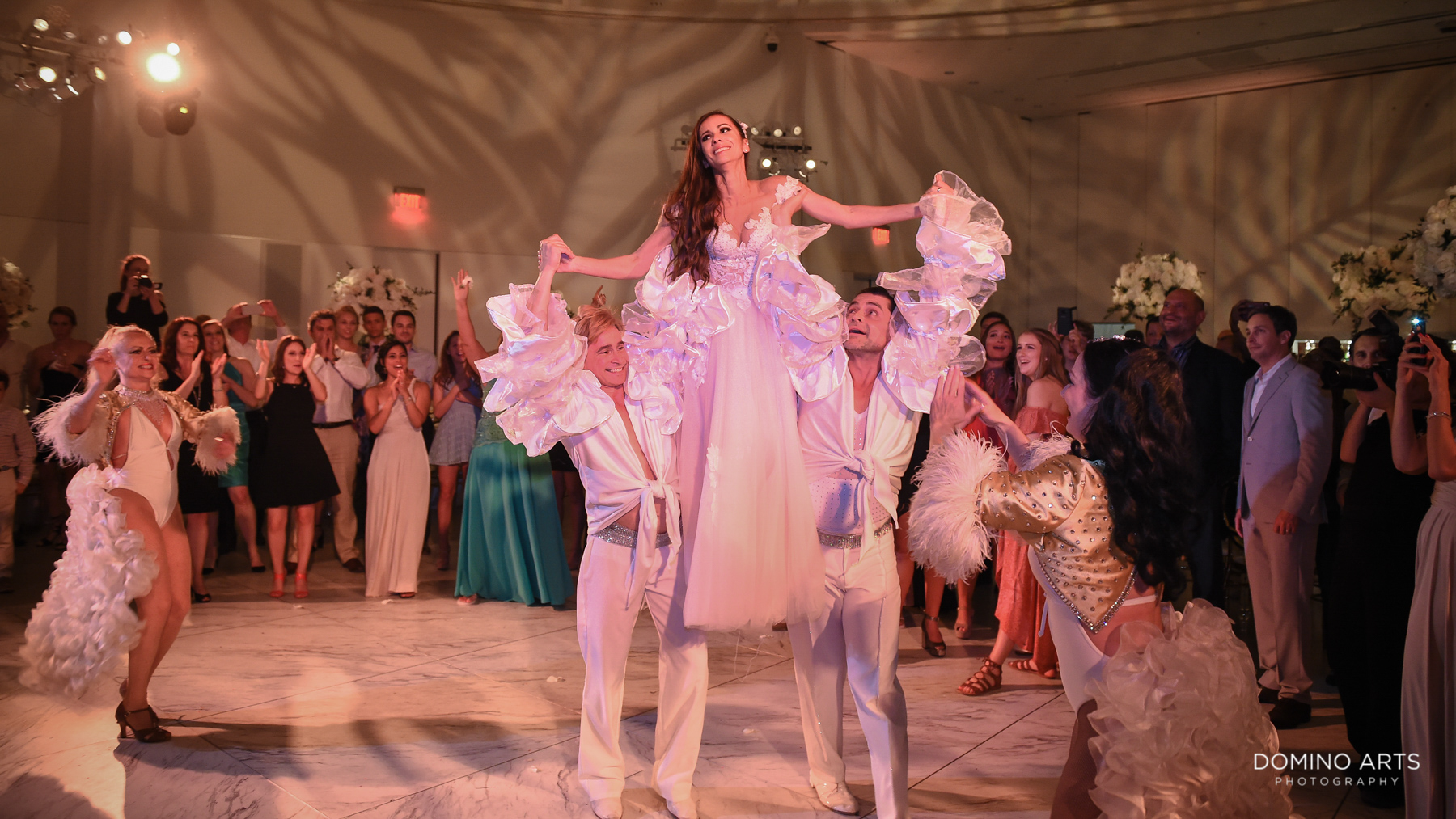 Best wedding entertainment show at luxury Faena Hotel Wedding Miami