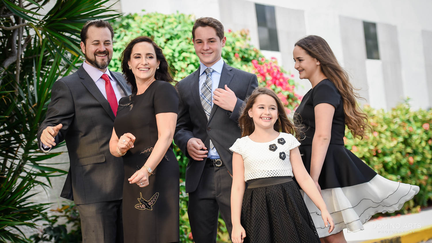 Family pictures at Luxury Beach Mitzvah Photography at Marriott Harbor Beach