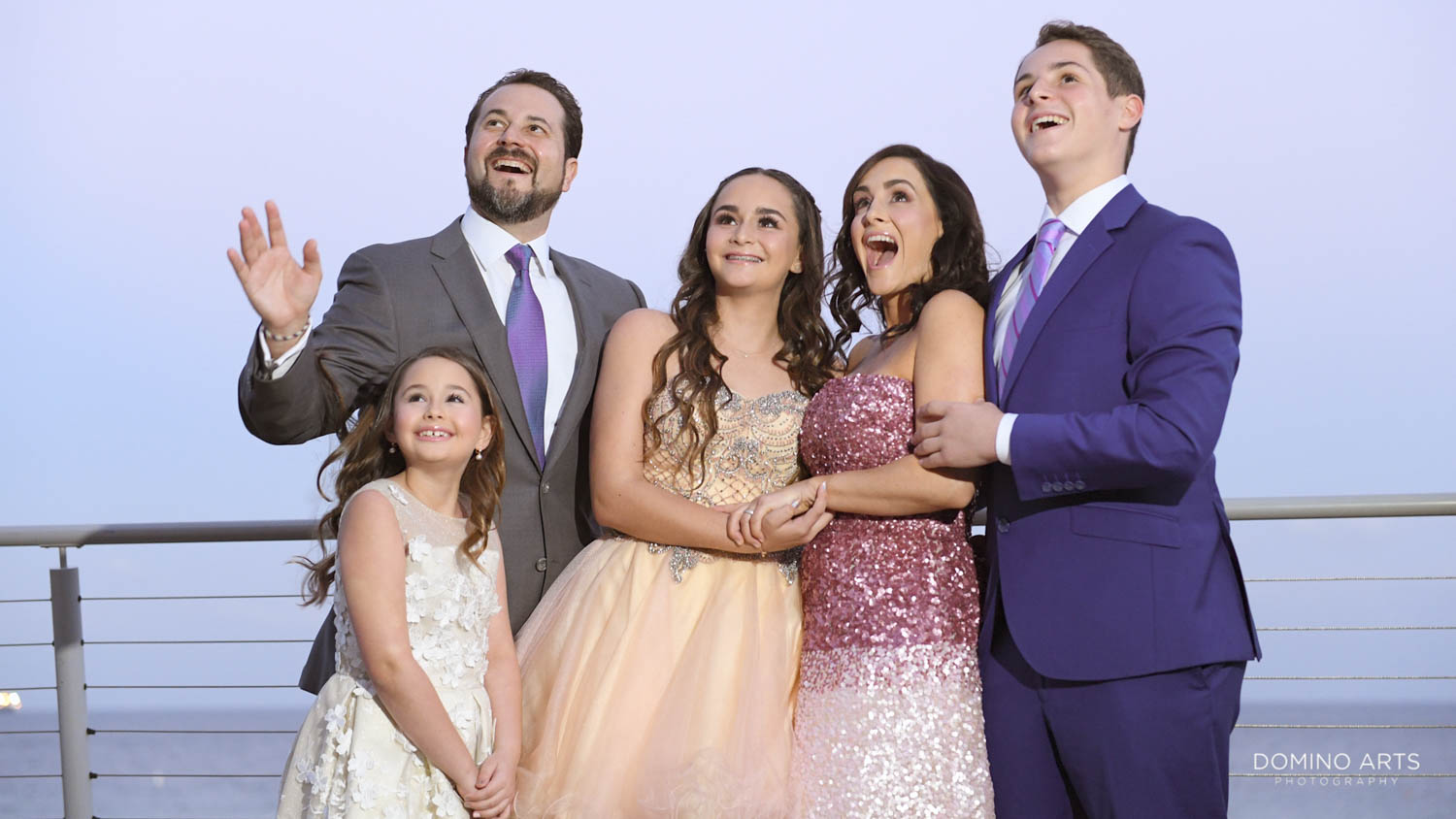 Family pictures on Beach pictures at Marriot Harbor Beach Mitzvah