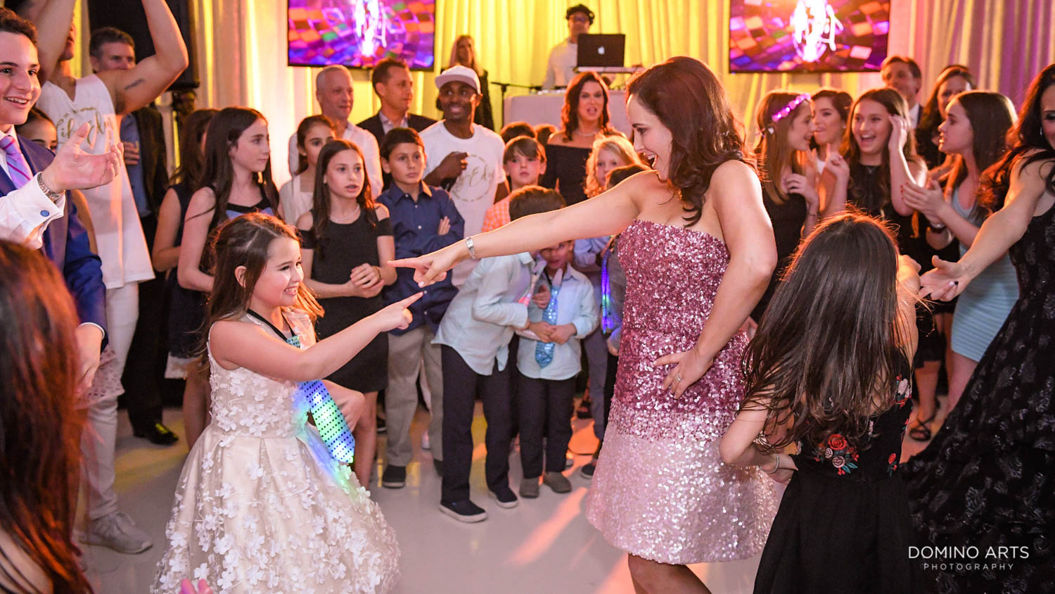 Fun party pictures at Harbor Beach Marriot Miami Mitzvah